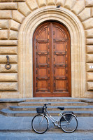 Bike and door in Florence Italy