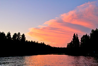 Sunset on Lake of the woods ON